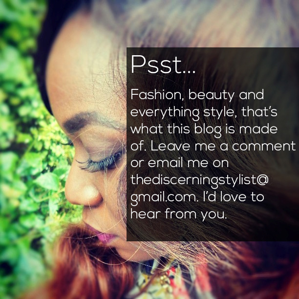 Psst... Leave a comment or email thediscerningstylist@gmail.com